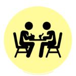 icone : deux personnes qui étudient