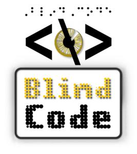 Logo de la formation BlindCode de codage - développeur web pour les personnes déficientes visuelles