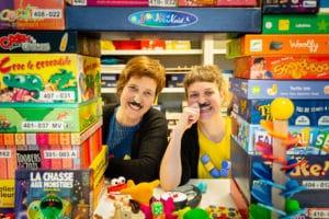 Sophie et Céline, les 2 ludothécaires d'Eqla